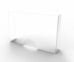 Beschermwand plexi 65x100cm - dikte 2mm